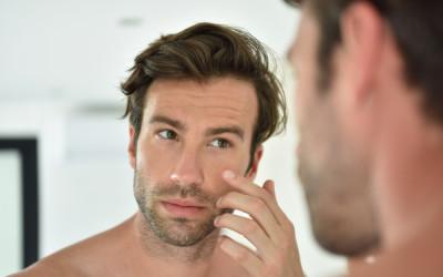 male model in the mirror