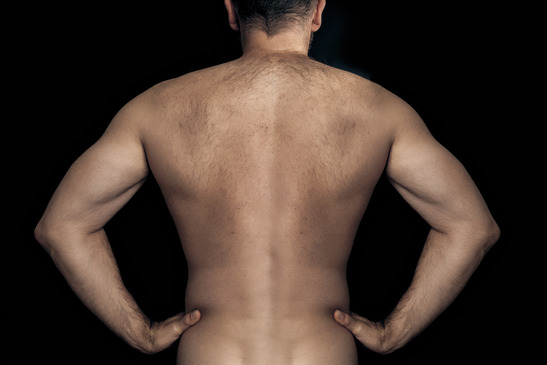 An image of a natural male back
