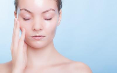 woman after a facial peel