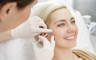 woman getting a botox treatment