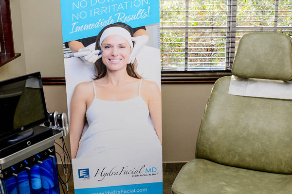 Hydrafacial set up at dor longwill's office