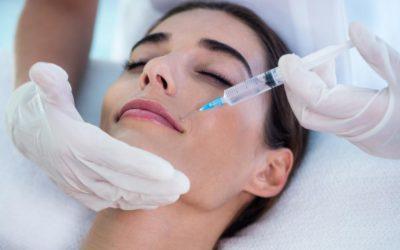 Model receiving botox