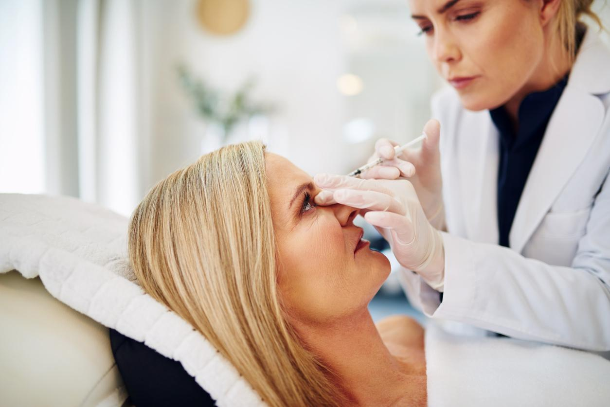 older woman getting a botox treatment