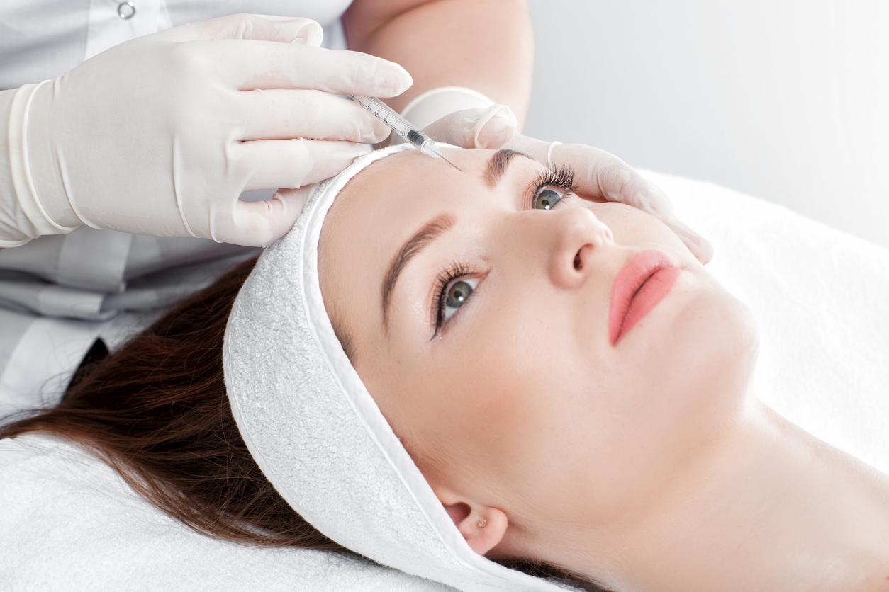 patient getting an injectable Facial Rejuvenation