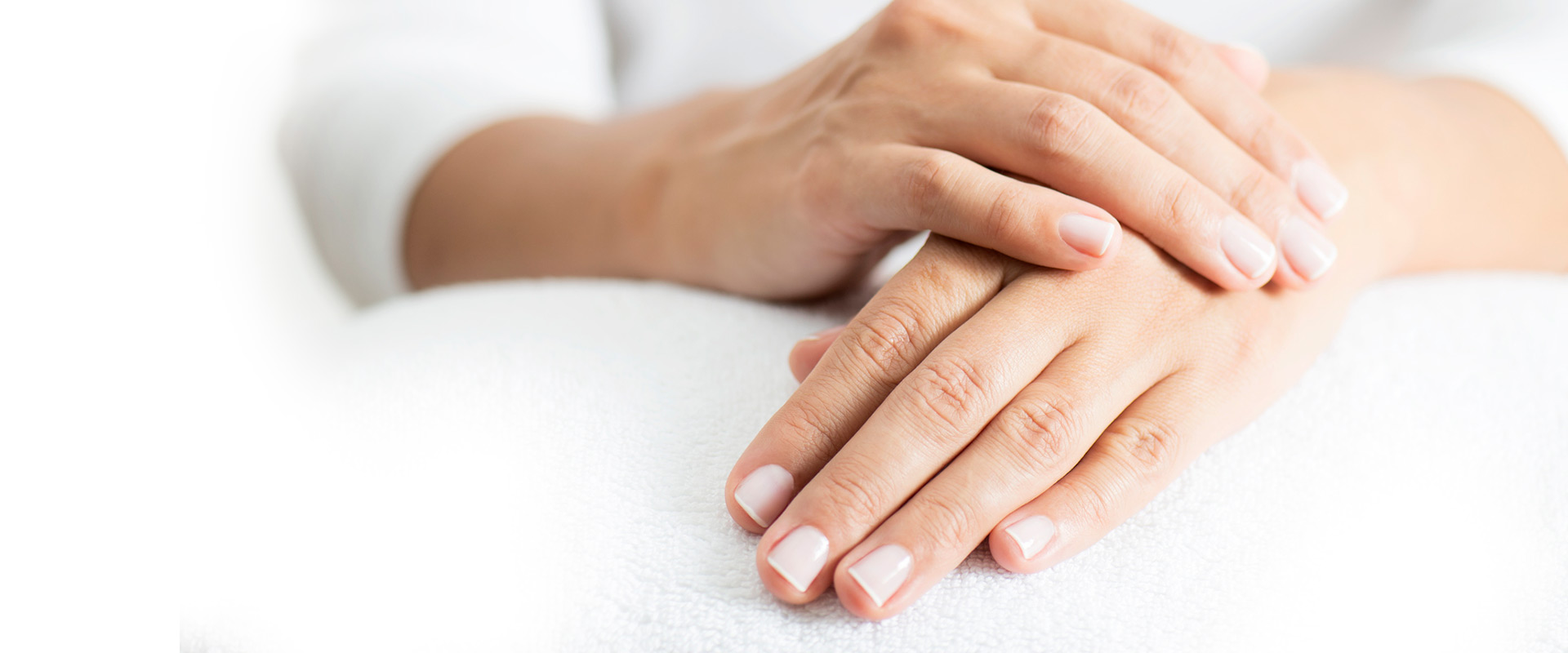close up of a womans hands